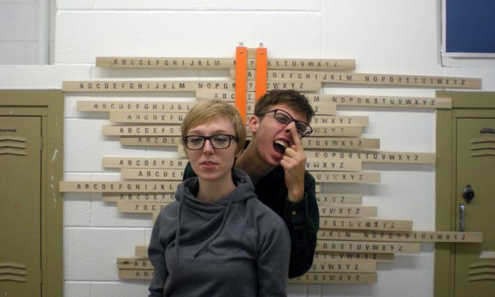 Hester/Interactive Typographic Installation/Alphabet Shift