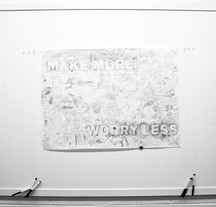 Hester/Experimental Interactive Typographic Installation/Make More + Worry Less