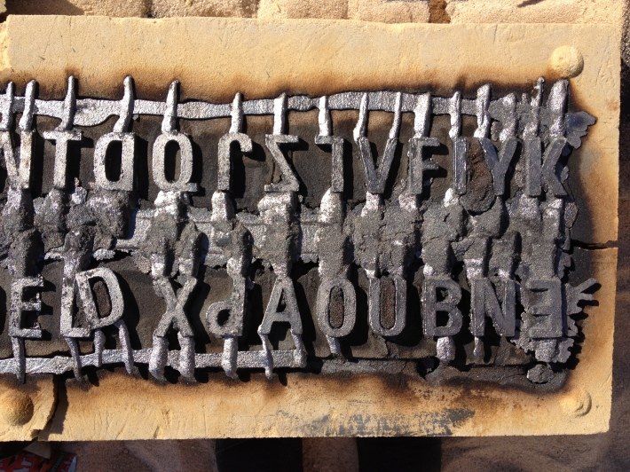 Hester/Iron Pour/Iron Casting/Art Incend/Experimental Typography
