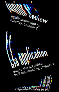 Hester/BFA Application/Jr Review Poster